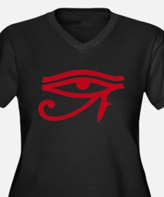 Eye of Ra Red Original.png Women's Plus Size V-Nec