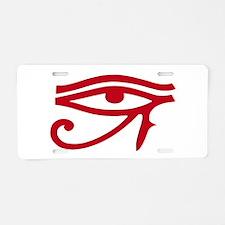 Eye of Ra Red Original.png Aluminum License Plate