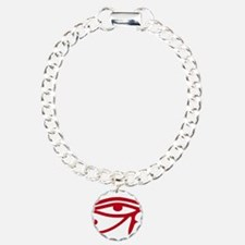 Eye of Ra Red Original.png Charm Bracelet, One Cha