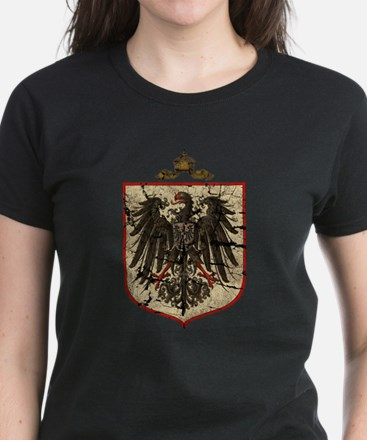 German Imperial Eagle Distressed Women's Dark T-Sh