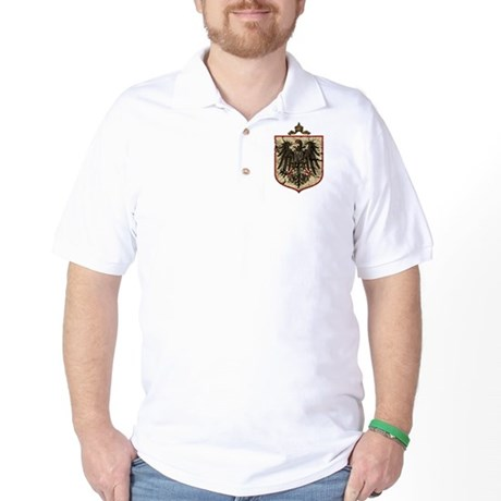 German Imperial Eagle Distressed Golf Shirt