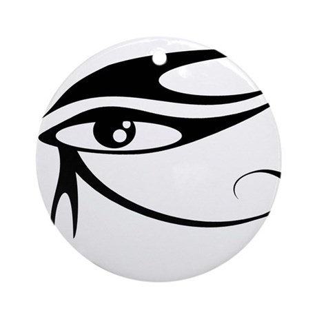 Eye of Ra Black.png Ornament (Round)