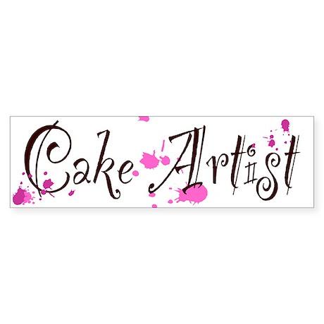 Cake Artist Sticker (Bumper)