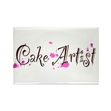 Cake Artist Rectangle Magnet