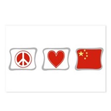 Peace, Love and China Postcards (Package of 8)