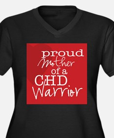 Cute Chd awareness Women's Plus Size V-Neck Dark T-Shirt