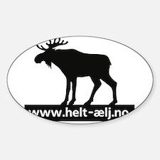 Helt Elg Sticker (Oval)