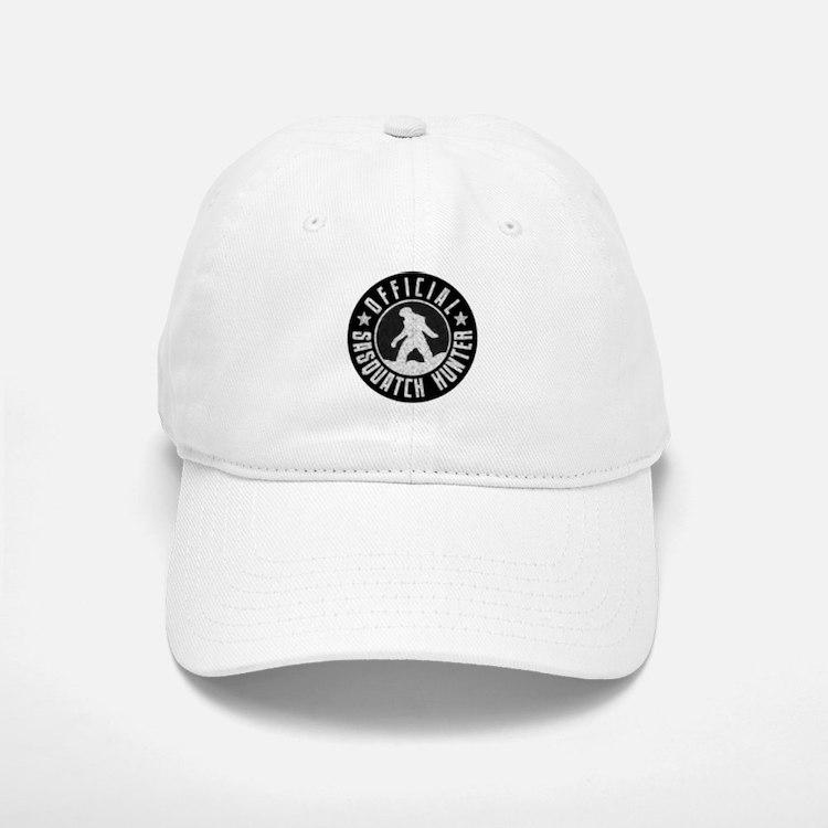 Sasquatch Hunter - White on Black Baseball Baseball Cap