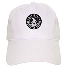 Sasquatch Hunter - White on Black Baseball Cap