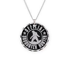 Sasquatch Hunter - White on Black Necklace