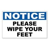 Notice wipe your feet 10 Pack