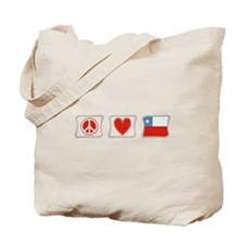 Peace, Love and Chile Tote Bag