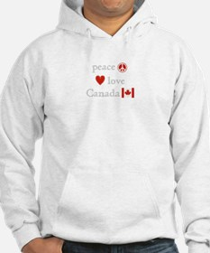 Peace, Love and Canada Hoodie