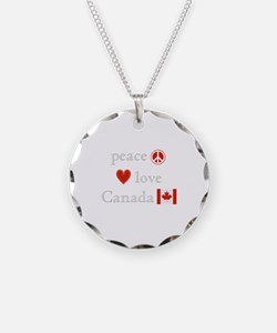 Peace, Love and Canada Necklace