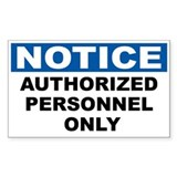 Authorized personnel 10 Pack