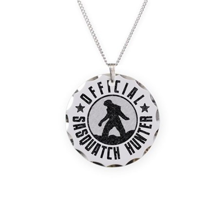 Official Sasquatch Hunter Necklace Circle Charm