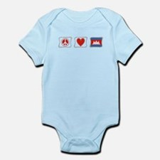 Peace, Love and Cambodia Infant Bodysuit