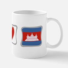 Peace, Love and Cambodia Mug