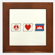 Peace, Love and Cambodia Framed Tile