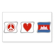Peace, Love and Cambodia Decal