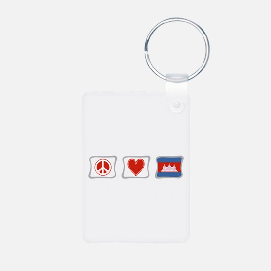Peace, Love and Cambodia Keychains