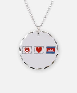 Peace, Love and Cambodia Necklace