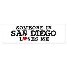 San Diego: Loves Me Bumper Bumper Sticker