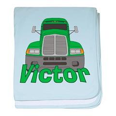 Trucker Victor baby blanket