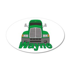 Trucker Wayne 38.5 x 24.5 Oval Wall Peel