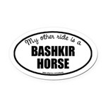 American Bashkir Curly Horse Oval Car Magnet
