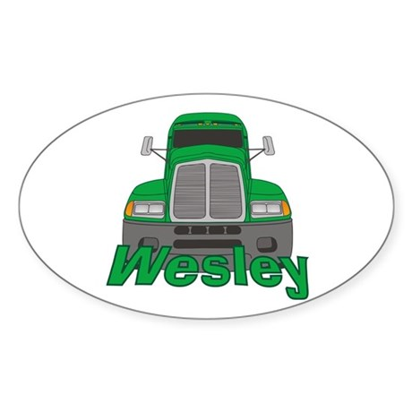 Trucker Wesley Sticker (Oval)