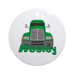 Trucker Wesley Ornament (Round)