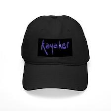 Kayaker's Black Baseball Cap