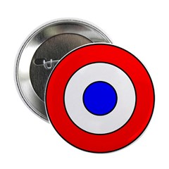 """WW 1 French Aircraft Insignia 2.25"""" Button (10 pac"""