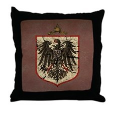 German Imperial Eagle Distressed Throw Pillow
