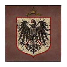 German Imperial Eagle Distressed Tile Coaster