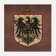 German Imperial Eagle Distressed Tile Coaster