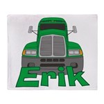 Trucker Erik Throw Blanket