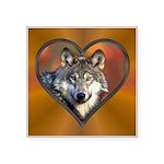 Wolf Heart Square Sticker 3