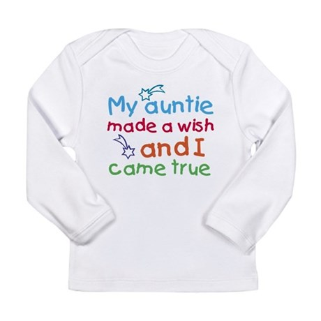 My Auntie made a wish Long Sleeve Infant T-Shirt