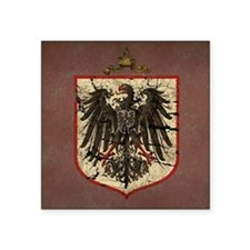 German Imperial Eagle Distressed Square Sticker 3""
