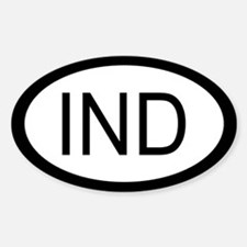 India Car Sticker / Decal (Oval)