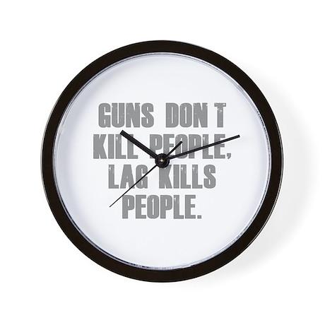 Lag Kills People Wall Clock