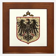 German Imperial Eagle Distressed Framed Tile
