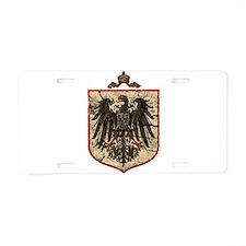 German Imperial Eagle Distressed Aluminum License