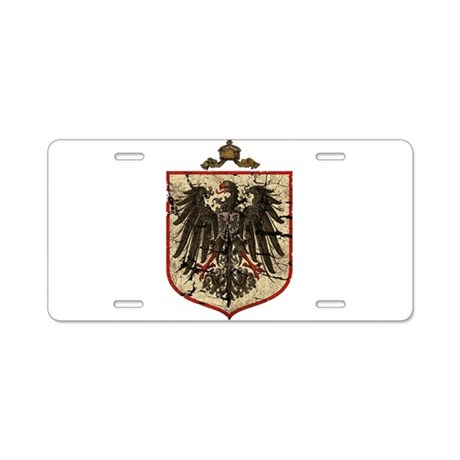 German Imperial Eagle Distressed Aluminum License