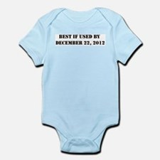 BEST IF USED BY DEC 21 2012 Infant Bodysuit
