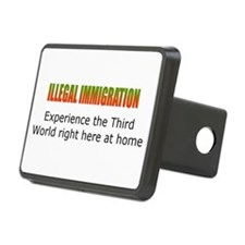 Cute America mexico border Hitch Cover