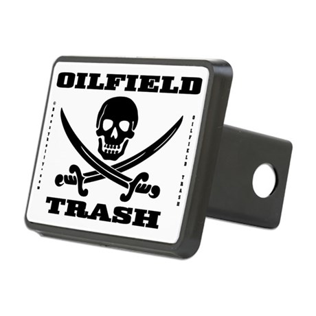 Oil Field Trash,Skull Rectangular Hitch Cover(Rect