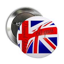 "Diamond Jubilee Union Jack3 2.25"" Button"